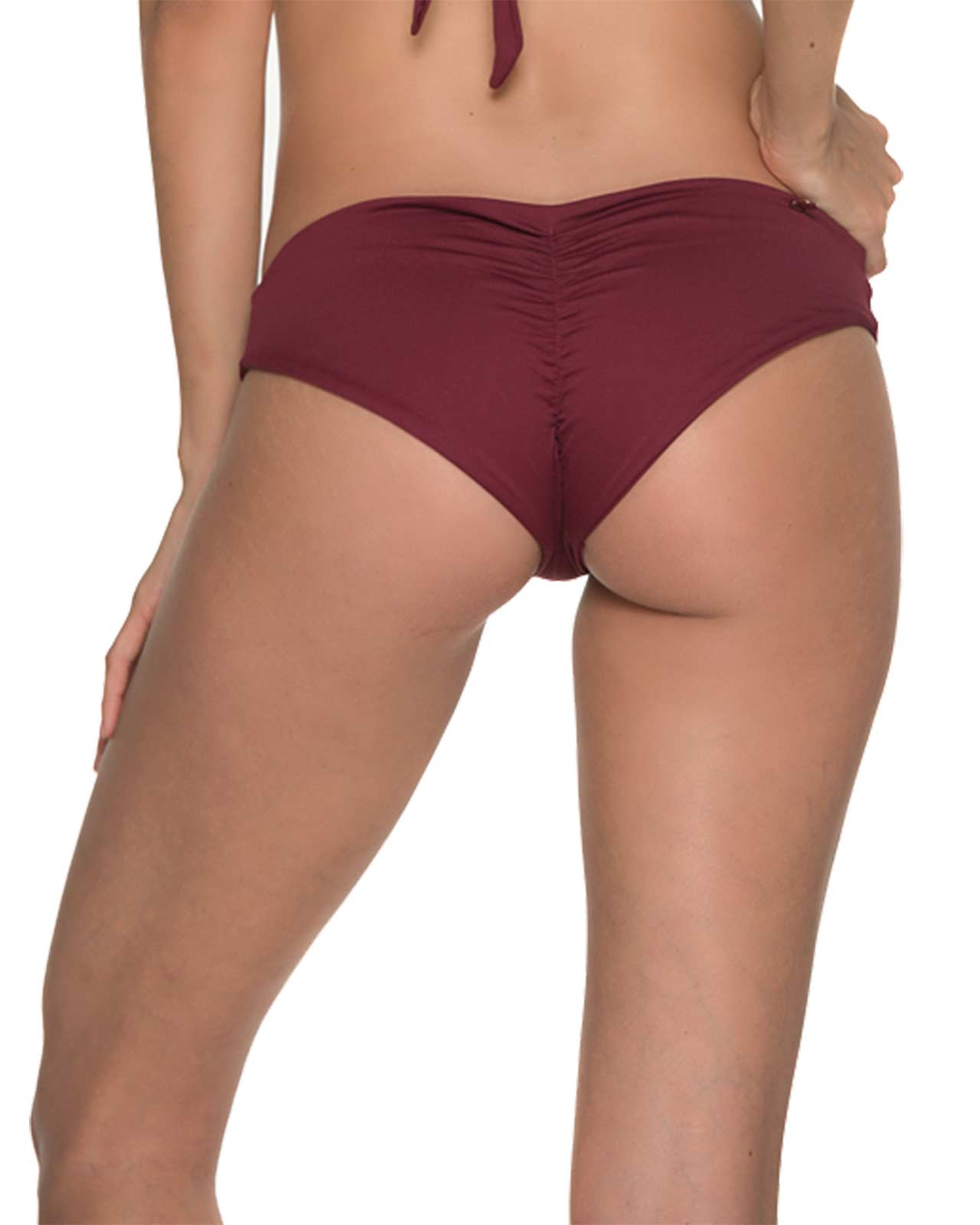 AWE FISHBONE MERLOT RUCHED BOTTOM