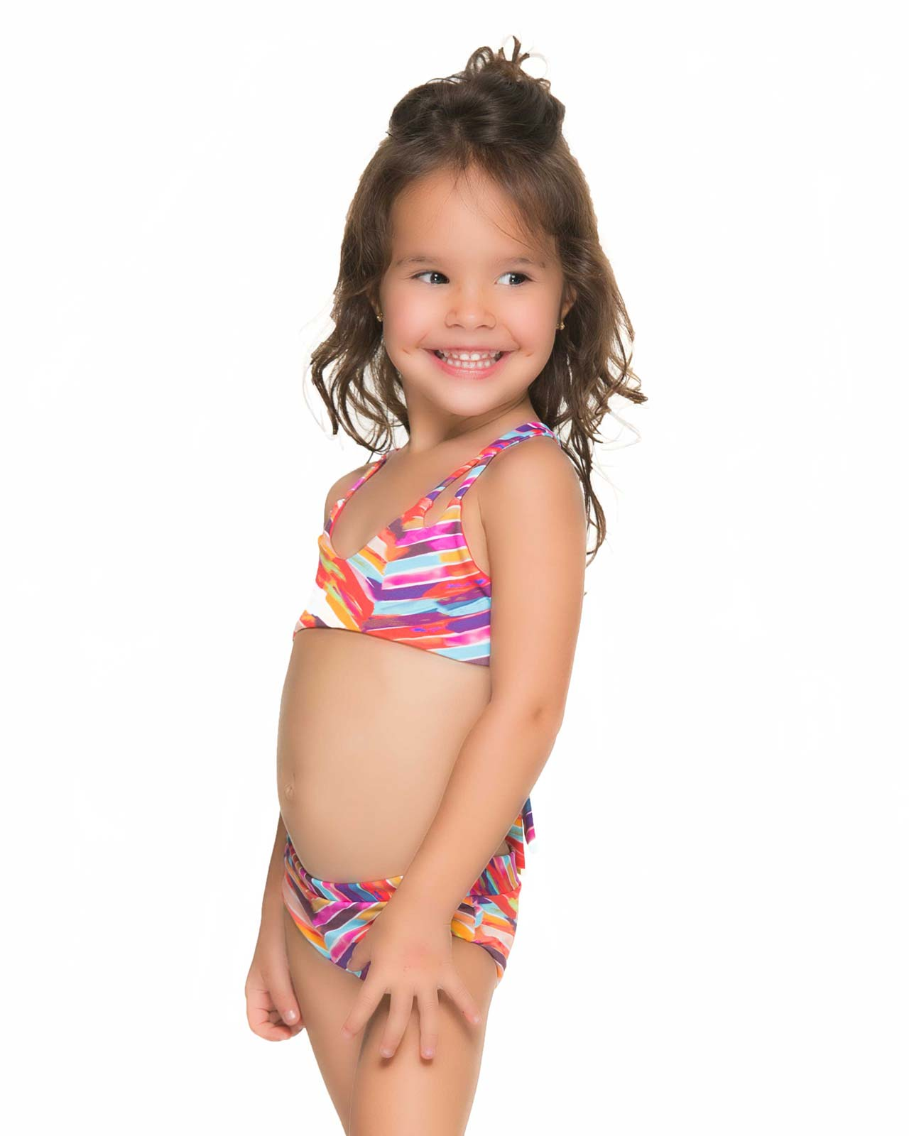 SEASIDE CHEVRON KIDS BIKINI