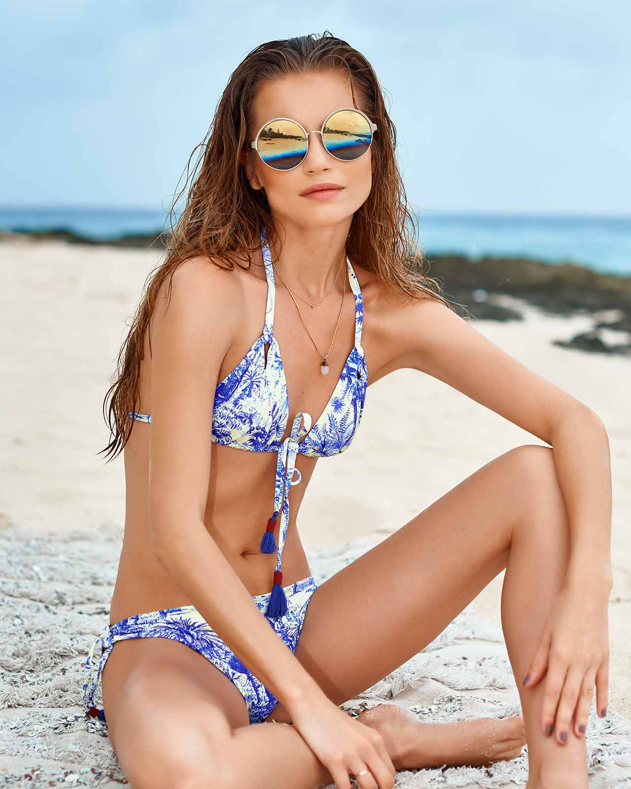 INDIANA JOURNEY TRIANGLE TIE SIDE BIKINI