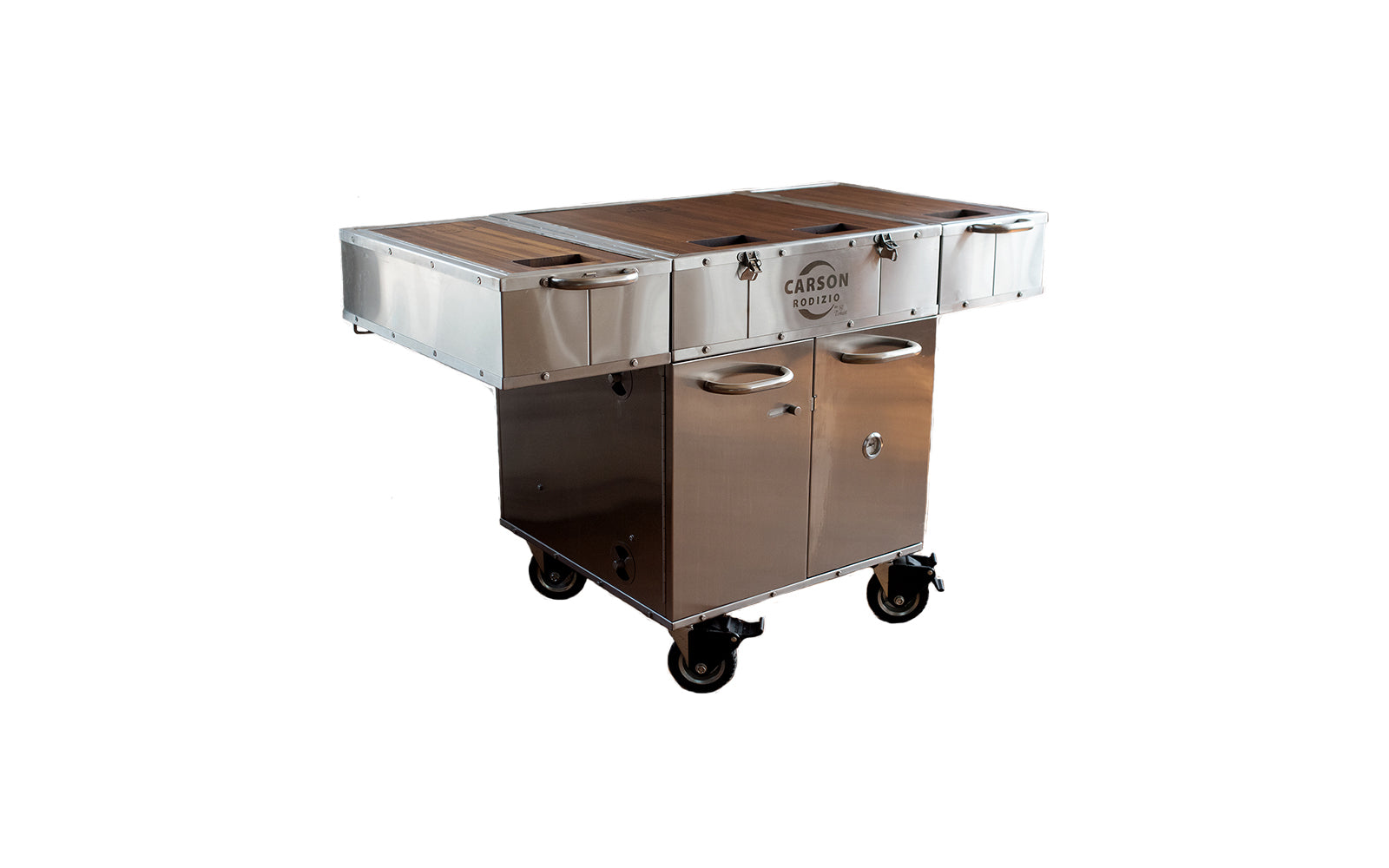 CARSON RODIZIO ROADCASE MONILE KITCHEN COOKER SMOKER GRILL OVEN SINK GRIDDLE