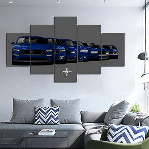 MUSTANG GENERATION CANVAS ART