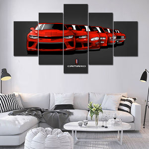 6 GENERATION CAMARO WALL ART