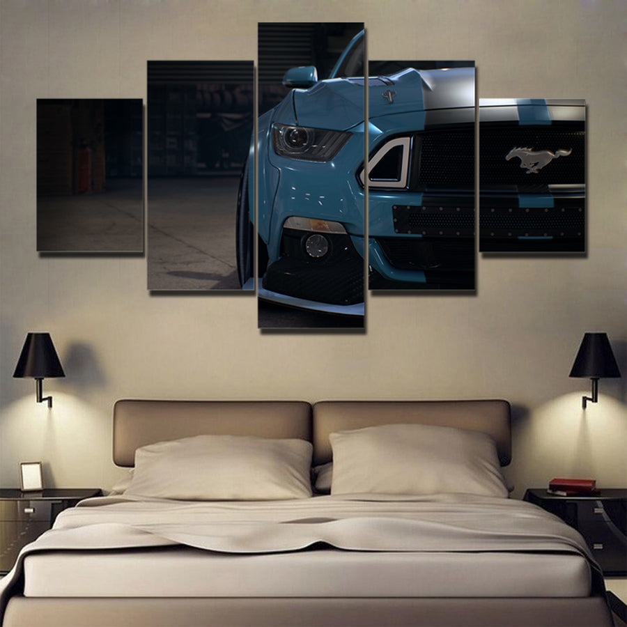 MUSTANG CAR CANVAS ART