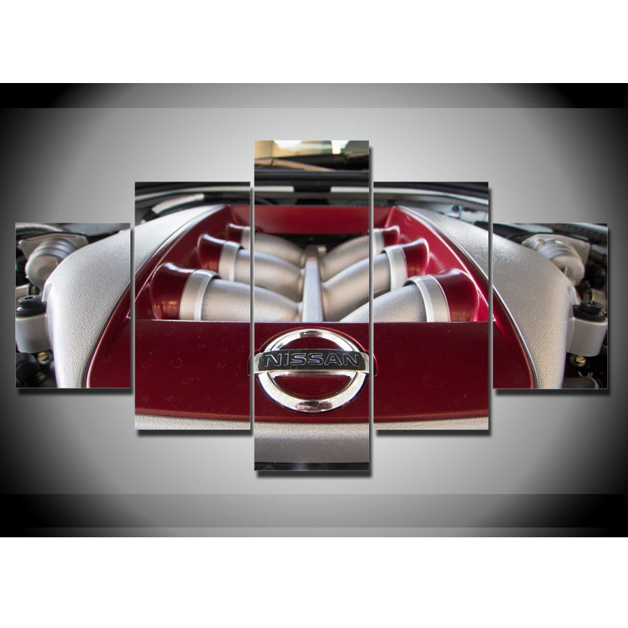 JDM ENGINE CAR CANVAS ART