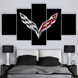 CHEVROLET CORVETTE CAR WALL ART