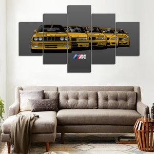 BMW M3 5 GENERATIONS  WALL ART