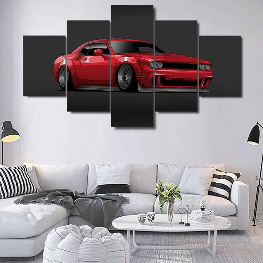 DODGE CHALLENGER CANVAS ART