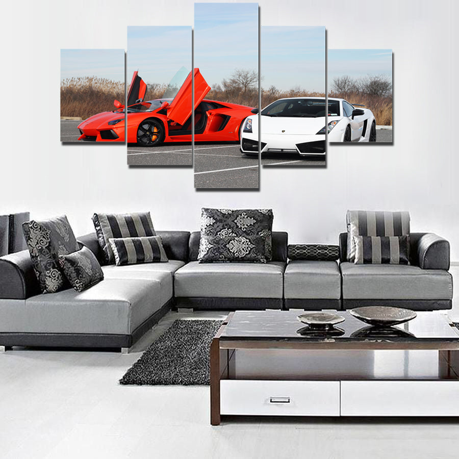 LAMBO CAR CANVAS ART