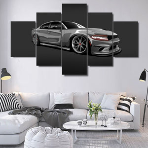 DODGE CHARGER CANVAS ART