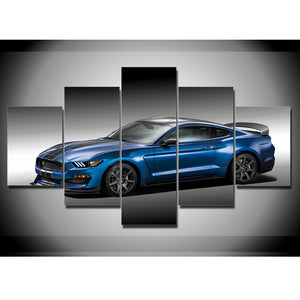 BLUE SHELBY CANVAS ART