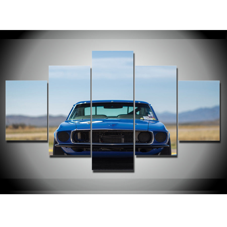 FRONT VIEW CLASSIC MUSTANG CANVAS ART
