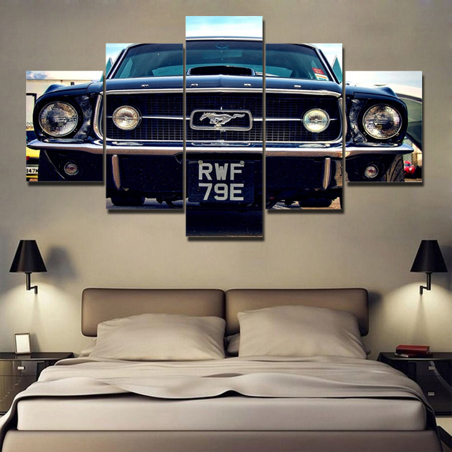 CLASSIC MUSTANG CANVAS ART