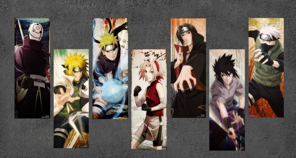 NARUTO CHARACTERS CANVAS ART