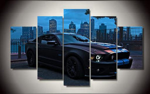 CITY MUSTANG CANVAS ART