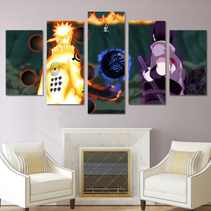 NARUTO & SASUKE VS MADARA CANVAS ART