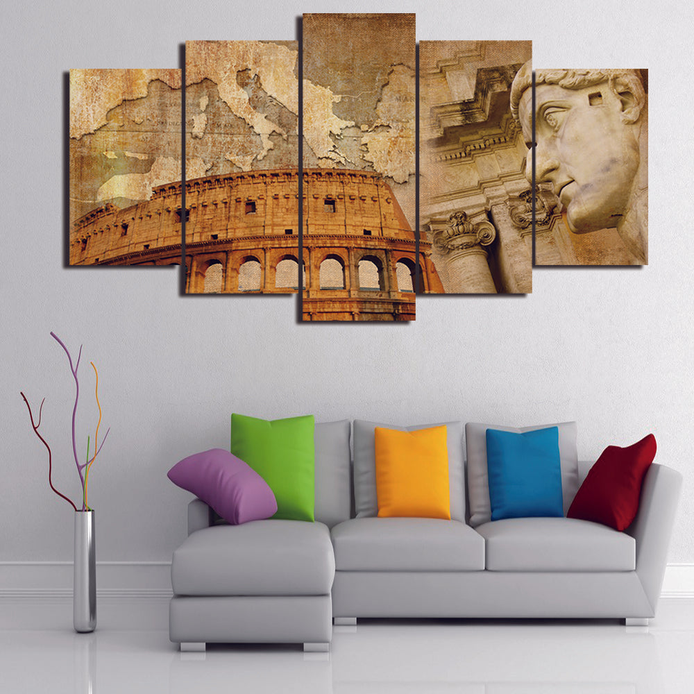 ITALIAN COLOSSEUM CANVAS ART
