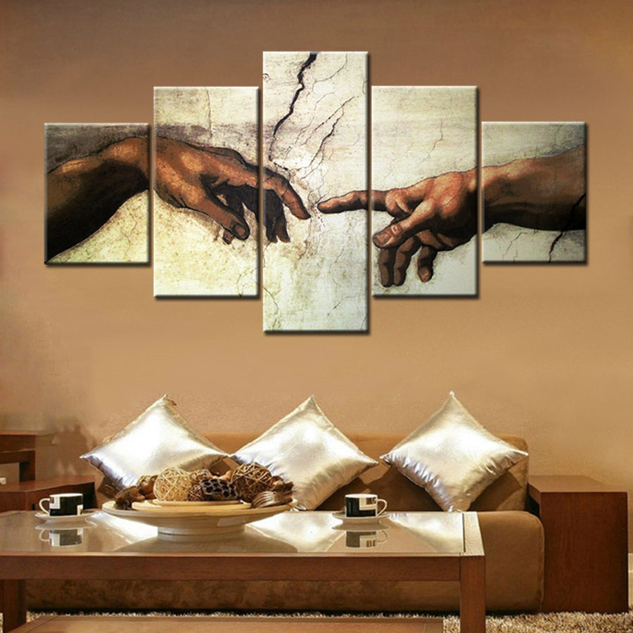 GOD AND MAN CANVAS ART