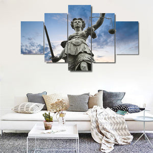 GODDESS OF JUSTICE CANVAS ART