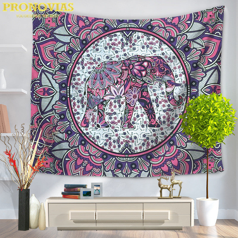 PINK AND BLUE TAPESTRY