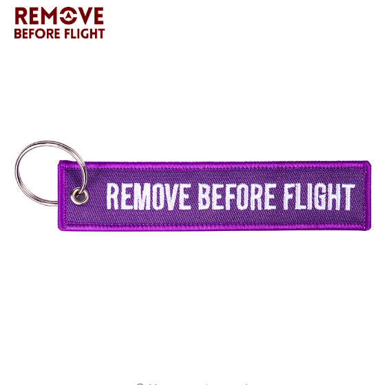 REMOVE BEFORE FLIGHT KEYCHAIN