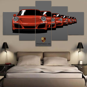 PORSCHE GENERATION WALL ART