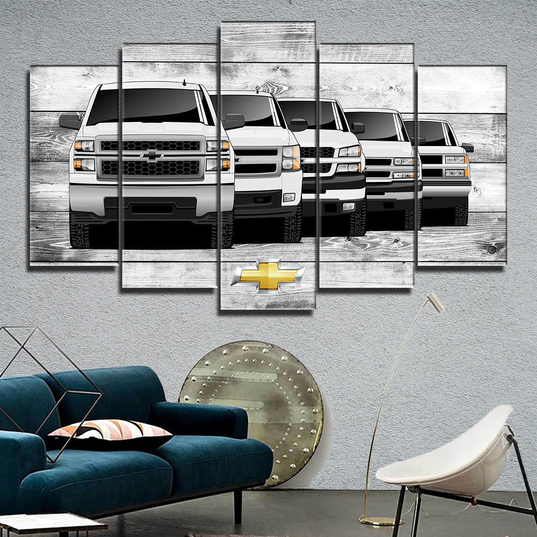 SILVERADO TRUCK GENERATIONS WALL ART