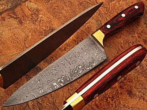 Image of 7.5 INCH HAND FORGED DAMASCUS CHEF KNIFE