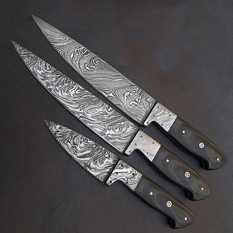 Image of 352 Layer Damascus Steel Chef Knives