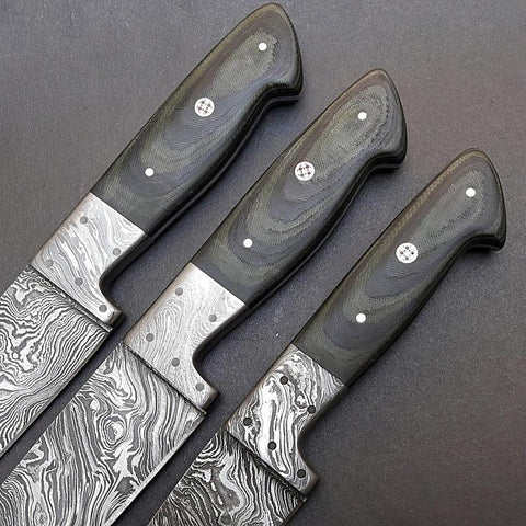 352 Layer Damascus Steel Chef Knives