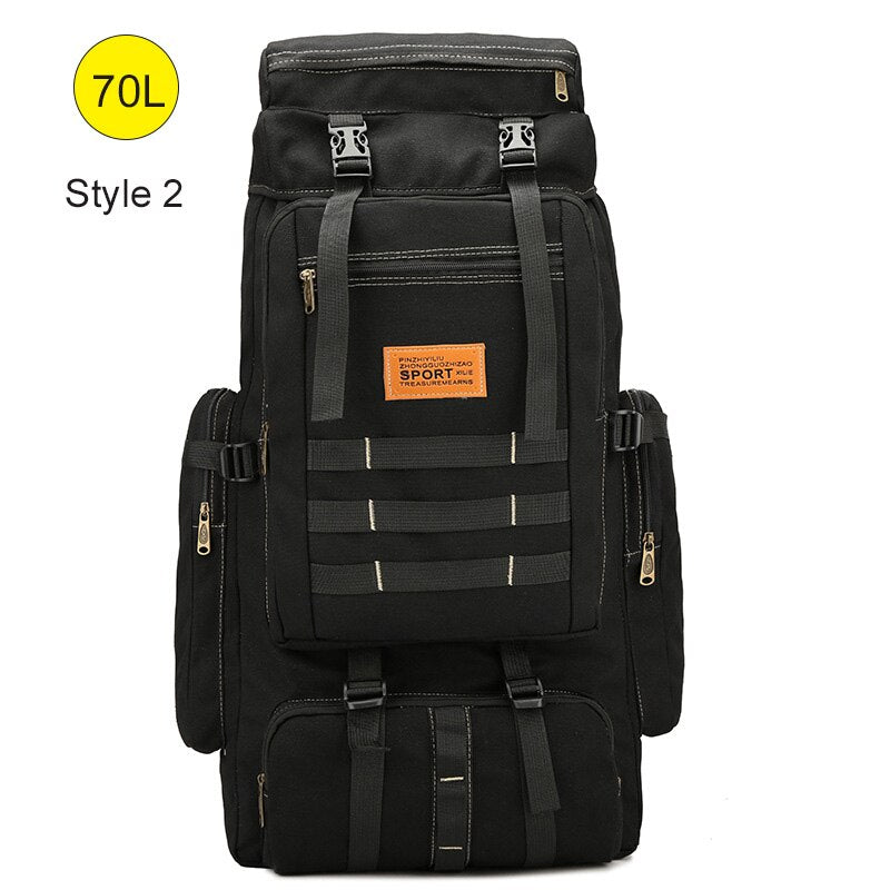60L Large Military Bag Canvas Backpack