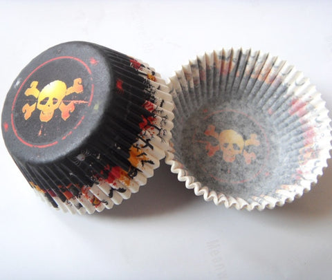 50pcs Ghost/Witch/Skull/Pumpkin Halloween Cupcake Liner