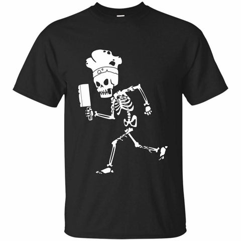 Image of Chef Skeleton T Shirt Halloween
