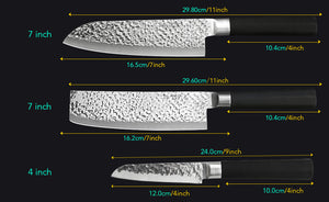 3PC Japanese Chef Knife Set - £42.97 + FREE SHIPPING