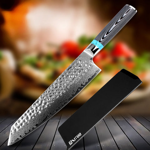Hand Forged VG10 67 Layer Damascus Steel Chef Knife with Micarta Handle