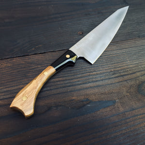 Olive Wood And Buffalo Horn Chefs Knife - 23 cm/9 inch blade