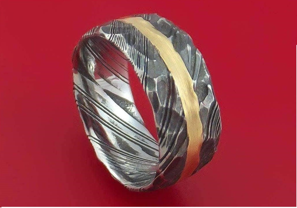 Handmade Damascus Ring 10 Made to Size