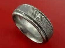 Handmade Damascus Ring 11 Made to Size