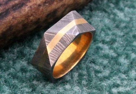 Handmade Damascus Ring 13 Made to Size
