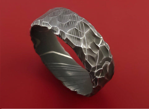 Handmade Damascus Ring 16 Made to Size