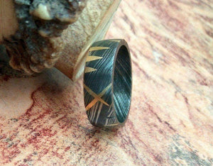 Handmade Damascus Ring 1 Made to Size