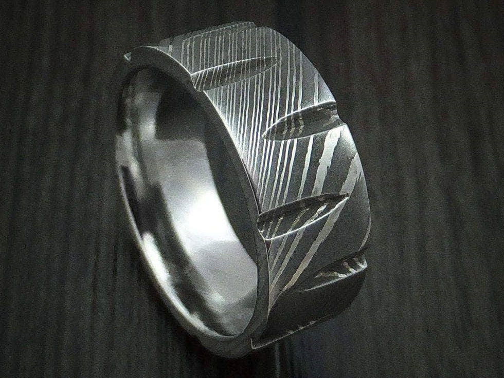 Handmade Damascus Ring 3 Made to Size