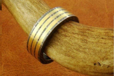 Image of Handmade Damascus Ring 8 Made to Size