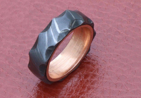 Image of Handmade Damascus Ring 9 Made to Size