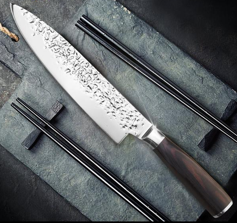 "Image of 8"" Japanese 7CR17 440C Chef Knife -  Pakka Wood Handle - £22.97 + FREE Delivery"