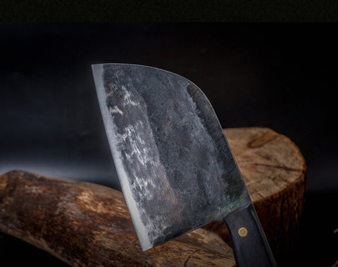 Image of Full Tang Hand Forged High-Carbon Steel Cleaver