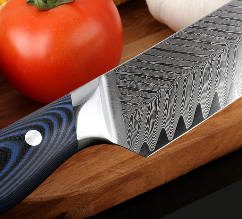 Image of 8 Inch Damascus Chef Knife - AUS10 Steel
