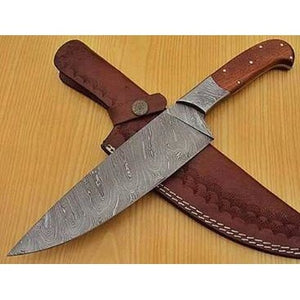 "7"" Damascus Steel with Rosewood handle"