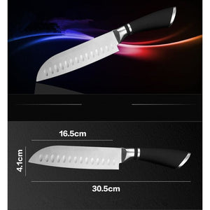 Stainless Steel Japanese Santoku Knife Chef