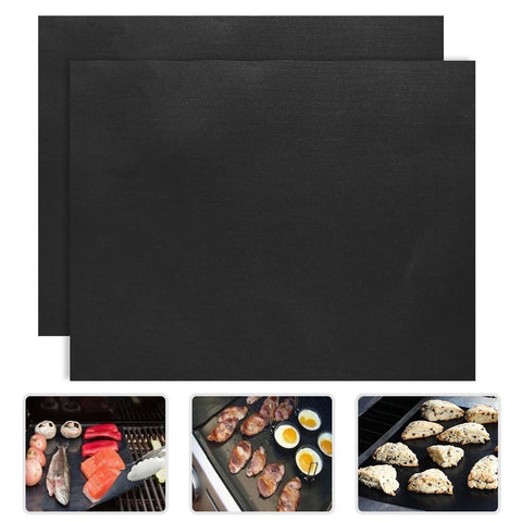 2pcs Barbecue Grill Mat non-stick Reusable
