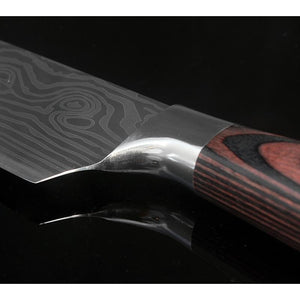 "8""  7cr17mov Steel Chef Knife - Damascus Style - FREE SHIPPING £29.97"
